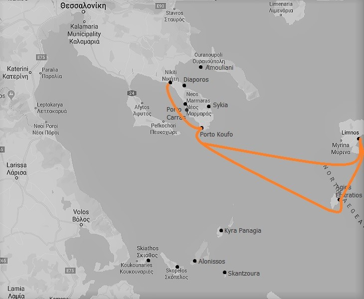 The North Aegean Route